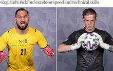 Final EURO 2020 - Donnarumma Vs Pickford, Jumlah Penyelamatan Nyaris Selevel
