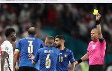 Hasil Lengkap EURO 2020 - Chiellini Trending Topic karena Pelanggaran Menit 95, Italia Kubur Inggris di Wembley