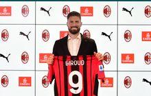 Olivier Giroud soal Kutukan Nomor 9 di AC Milan: Saya Tidak Percaya Takhayul