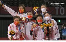 Olimpiade Tokyo 2020 - Presiden Apresiasi Medali Emas Greysia/Apriyani, Jadi Kado Manis HUT RI