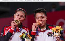 Olimpiade Tokyo 2020 - Emas Indonesia Diperoleh Lewat Aksi Dramatis Greysia/Apriani, dari Insiden Raket Penyok hingga Selebrasi Tertunda