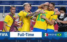 Hasil Olimpiade Tokyo 2020 - Brasil Menang Adu Penalti atas Meksiko, Lolos ke Final 3 Kali Beruntun