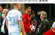 Cristiano Ronaldo Cetak 3 Gol dalam 6 Menit, Wasit Minta Ulangi Gol, Portugal Tak Kenal Ampun