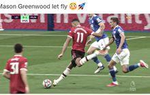 Mason Greenwood Cetak Gol yang Tak Bisa Ditepis 2 Kiper, Man United Bikin Leicester Teler