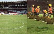 Kiper Filipina Sebut SUGBK Tidak Layak Digunakan, Beginilah Kondisi Rumput Stadion