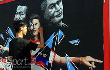 Tampung Kreatifitas Suporter, Madura United Bikin Lomba Mural