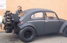 Wow! Mesin Tank 11.000 cc Nempel di VW Kodok, Seperti Ini Suaranya