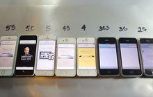 (Video) Uji Coba Performa Dari iPhone 2G Hingga iPhone 5s