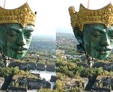 Videonya Viral, Begini Proses Pemasangan Kepala Patung Wisnu yang Beratnya 4 Ton di GWK Bali