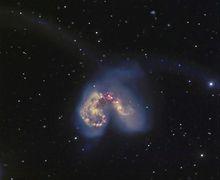 Galaksi Antennae, Hasil Tabrakan 2 Galaksi Besar