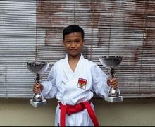 Bocah 11 Tahun asal Solo Juara Pertama Turnamen Karate Internasional di Belgia