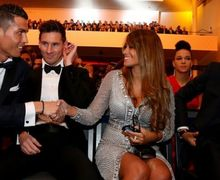 Gagal Raih Ballon d'Or, Cristiano Ronaldo dan Lionel Messi Kompak Bertandang ke Madrid
