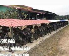 Terlanjur Kaya, Pemilik Rumah Pagari Kediamannya dengan Puluhan Sepeda Motor