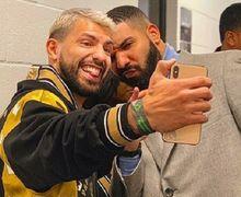 Sergio Aguero jadi Tamu Istimewa Konser Drake di Manchester Arena