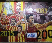 Wajah Bambang Pamungkas dan Andik Vermansah Jadi Gambar Mural di Markas Selangor FA