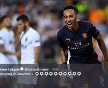 Cetak Hat-Trick, Pierre-Emerick Aubameyang Malah Diludahi Suporter Valencia