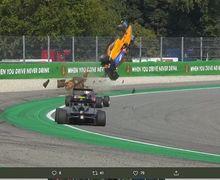 Ngeri! Detik-detik Mobil 'Salto' di Balapan F3 GP Italia Sirkuit Monza