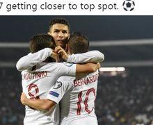 Begini Hebohnya Reaksi 4 Anak Cristiano Ronaldo Saat Lihat Ayahnya Cetak Gol di Kualifikasi Euro 2020