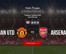 Link Live Streaming Manchester United vs Arsenal - Ambisi Setan Merah Perbaiki Peringkat