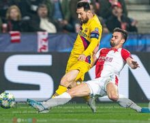 VIDEO - Momen Selebrasi Bek Slavia Praha Usai Taklukkan Lionel Messi