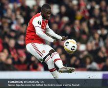 VIDEO - Gol Tendangan Pemain Termahal Arsenal Kunci Kemenangan di Liga Europa