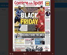 Romelu Lukaku dan Chris Smalling Jadi Headline 'Black Friday' Surat Kabar Italia