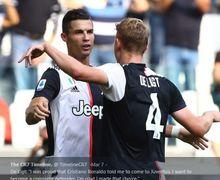 Gara-gara Cristiano Ronaldo dan Buffon, Matthijs de Ligt Tidak Sadar Telah Jadi Bintang Juventus