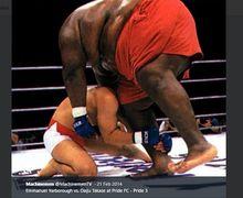VIDEO - Petarung MMA 76 Kg Vs Pegulat Sumo 272 Kg, Tegang Tapi Bikin Ngakak