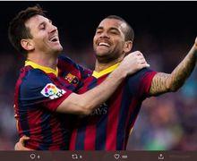 Lihat Messi dalam Dilema, Dani Alves Kembalikan Kata-kata La Pulga Dulu