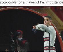 Saking Kesalnya, Cristiano Ronaldo Ingin Lempar Ban Kapten ke Wajah Wasit