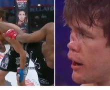 VIDEO - Kaki Brutal Bikin Hidung Petarung MMA Ini Penyok Seketika