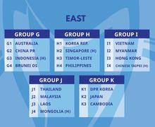 Hasil Undian Kualifikasi Piala Asia U-23 2022 - Ini Musuh Timnas Indonesia!