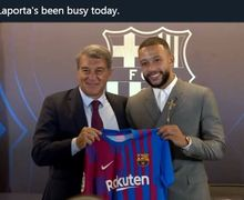 Barcelona - Memphis Depay Resmi Diperkenalkan, Messi Siap!