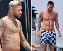 Ambil Liburan, Fisik Neymar Jadi Bahan Perbandingan Lionel Messi!