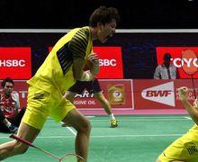 Singapore Open 2019 - Sebelum Bertemu Hendra/Ahsan Duo China Sempat Selebrasi Benturkan Kepala ke Lapangan ?