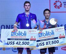Live Streaming Singapore Open 2019 - Kento Momota Vs Viktor Axelsen, Menanti Lawan Anthony Ginting di Final!