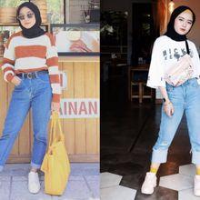5 Inspirasi Pemakaian Celana Jeans Model Crop Khusus Hijabers Milenial