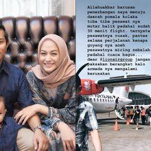 Ceritakan Pengalaman Mengerikan Naik Pesawat Rusak, Suami Nina Zatulini Dituding Sudutkan Lion Air
