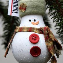 DIY Dekorasi Natal: Bola Gantung Karakter dari Bohlam Lampu Bekas
