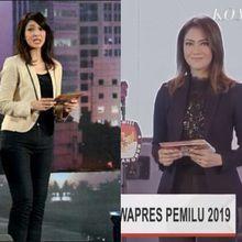Model Busana Ira Koesno Saat Menjadi Moderator Debat Capres 2019