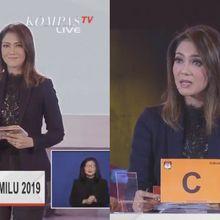 Gaya Makeup Ira Koesno Saat Menjadi Moderator Debat Capres 2019