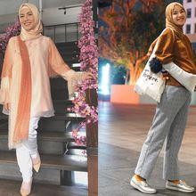 Inspirasi Baju Hamil Modern Ala Para Seleb Berhijab, Simpel dan Elegan