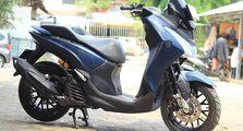 Yamaha Lexi Makin Gagah, Caranya Pakai Sok Depan Model Terbalik