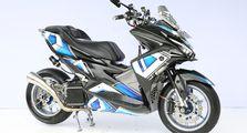 Tampang Garang Aerox dari Medan, Ornamen Karbon Tambah Aura Racing