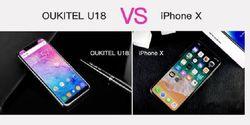 Perbandingan iPhone X vs Hape Kloning Oukitel U18, Siapa Juaranya?