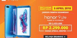 Flash Sale Honor 9 Lite Rp 2.3 Juta Digelar Esok Hari di Shopee