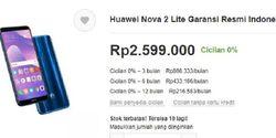 Huawei Nova 2 Lite Belum Masuk Indonesia, Toko Online Ini Sudah Jual