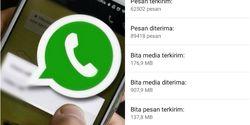 Cara Melihat Jumlah Pesan WhatsApp Terkirim Sejak Awal Pemakaian