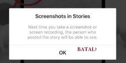 Instagram Tarik Fitur Pemberitahuan Screenshot, Lambe Turah Bisa Lega