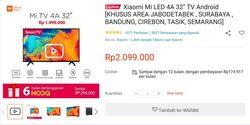 Harga Xiaomi Smart TV 32 Inch Naik ke Rp 2,1 Juta, Tapi Stok Selalu Habis